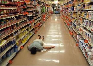 Supermarket face plant